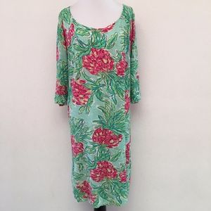 Lilly Pulitzer Cotton Green Shift Dress XL